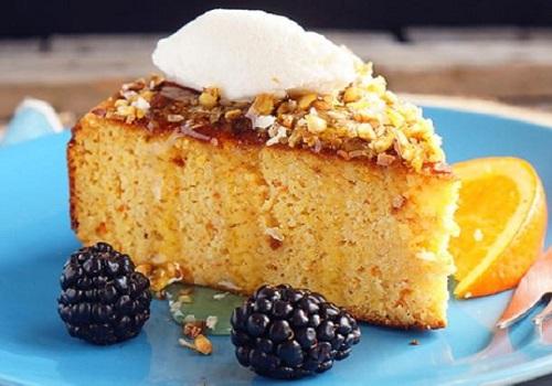 Апельсиновый пирог с мёдом